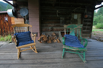 The old cabin porch looked very inviting