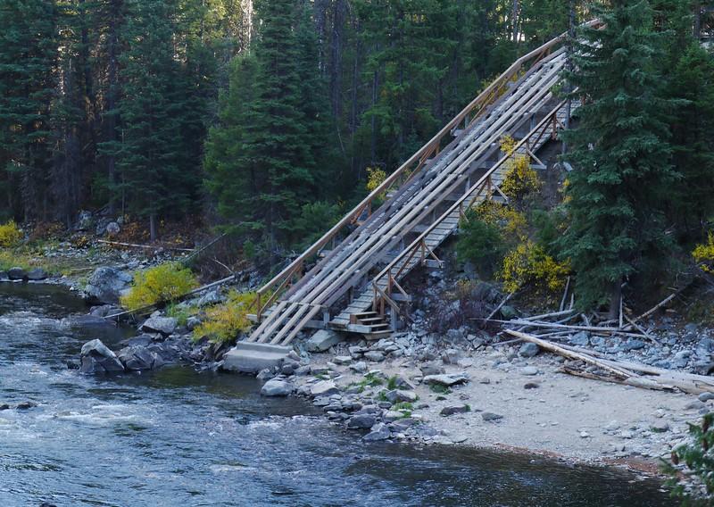 The Boundary Creek raft launch area.