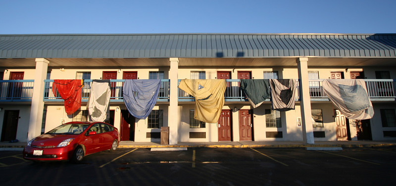 Drying tents at Clarksdale