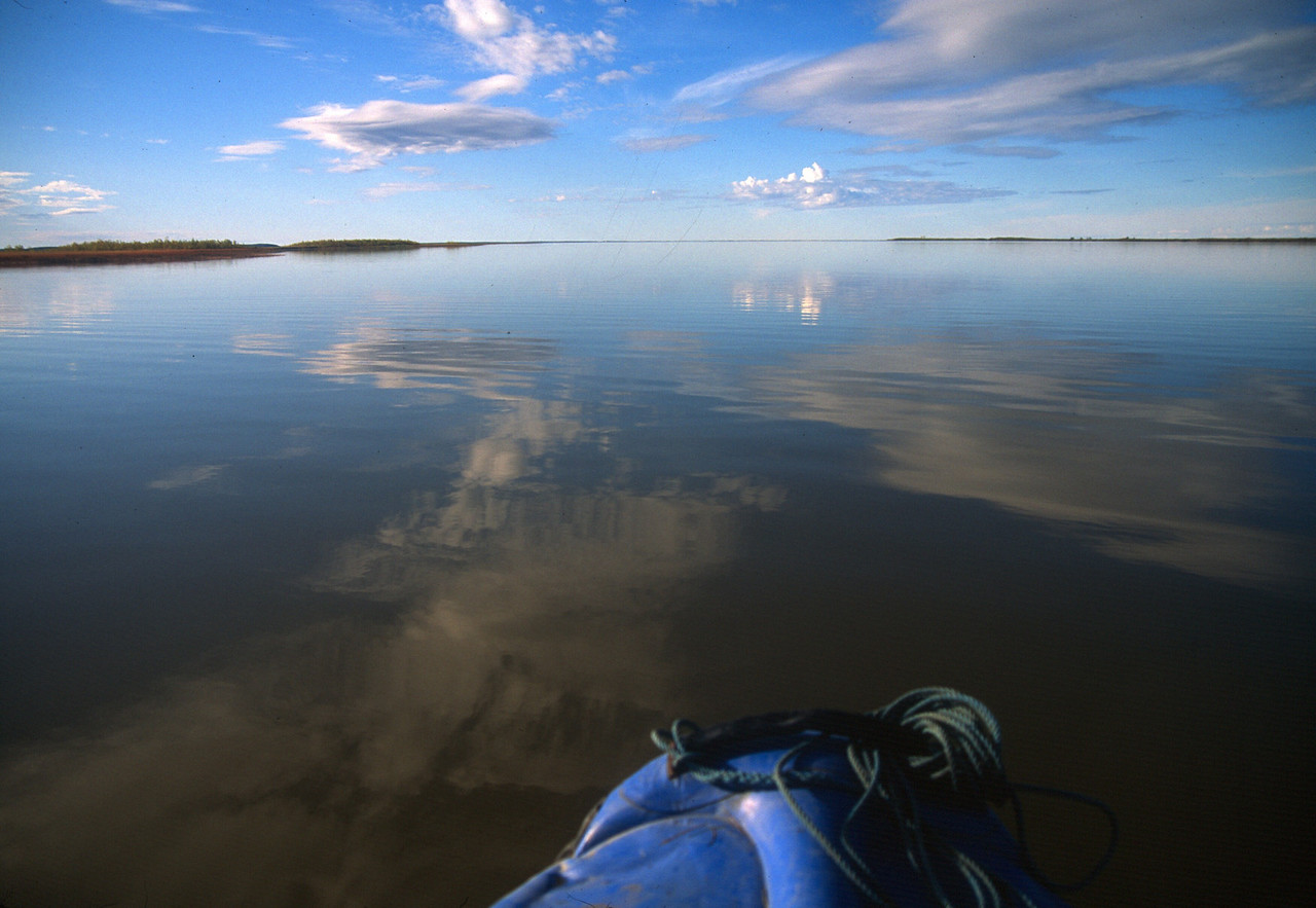 John and I make the crossing to Kotzebue in perfect conditions.