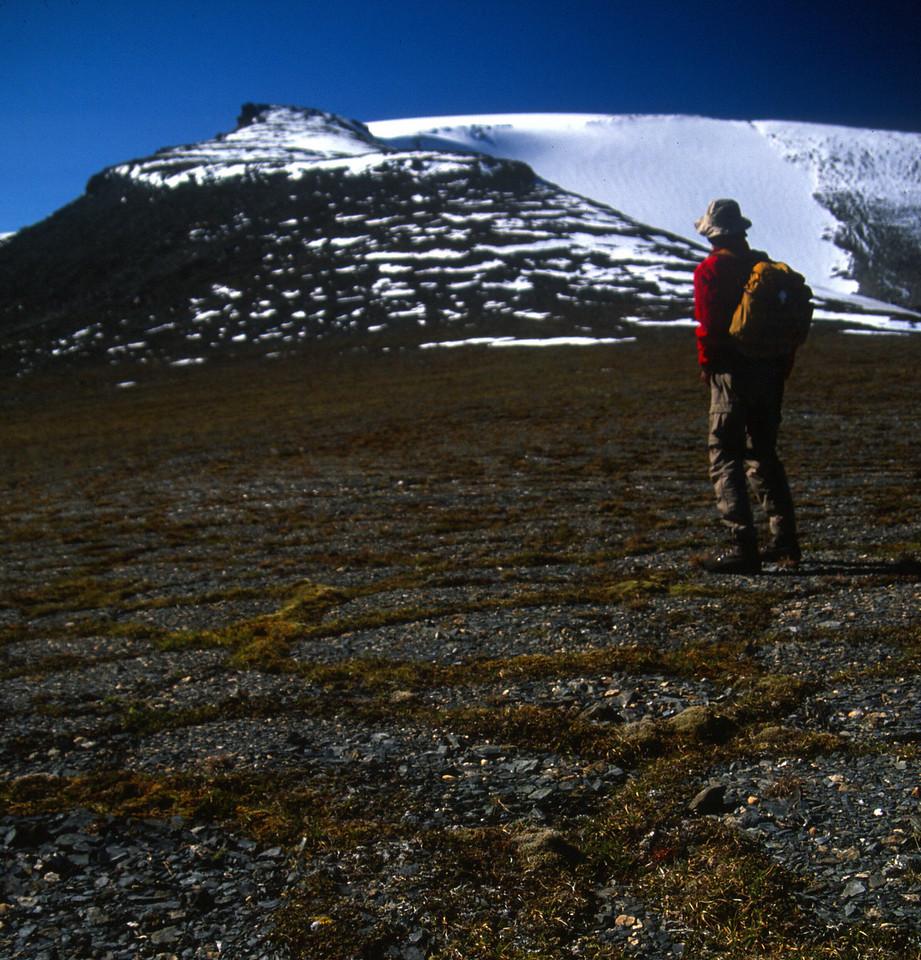 Starting to climb 7,100 ft Oyukak Peak on Day 5.