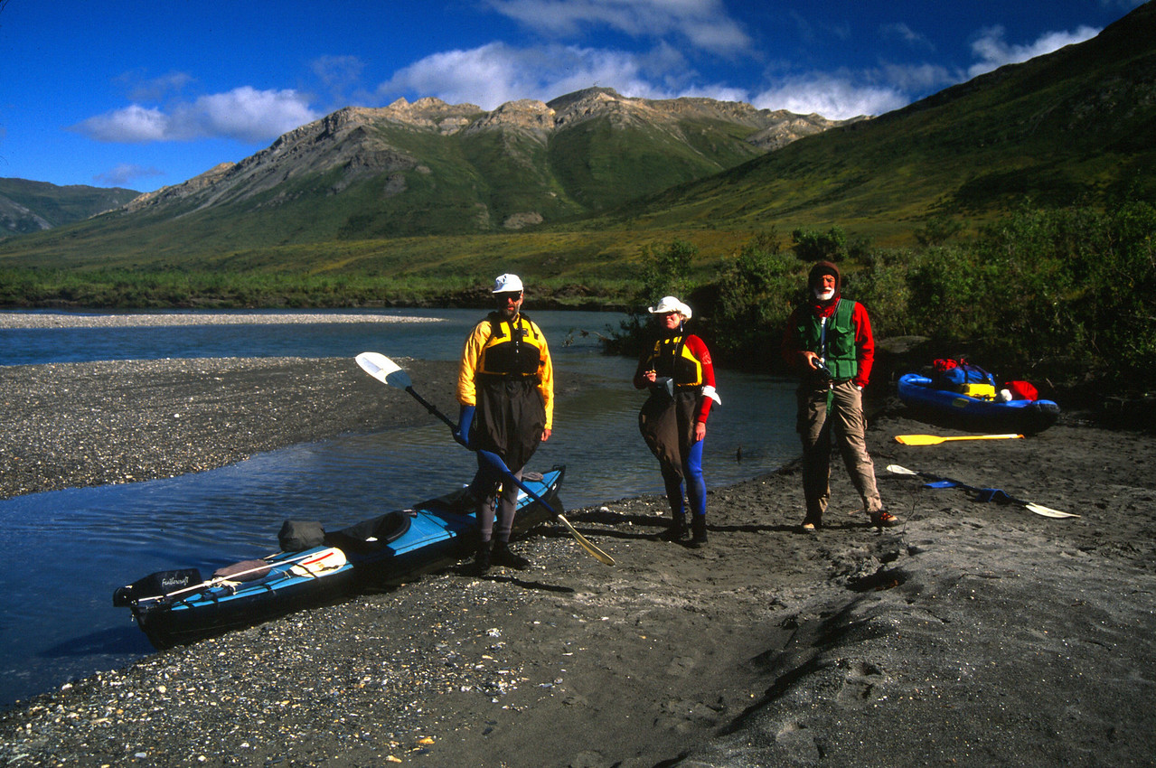Launching our boats on Upper Noatak