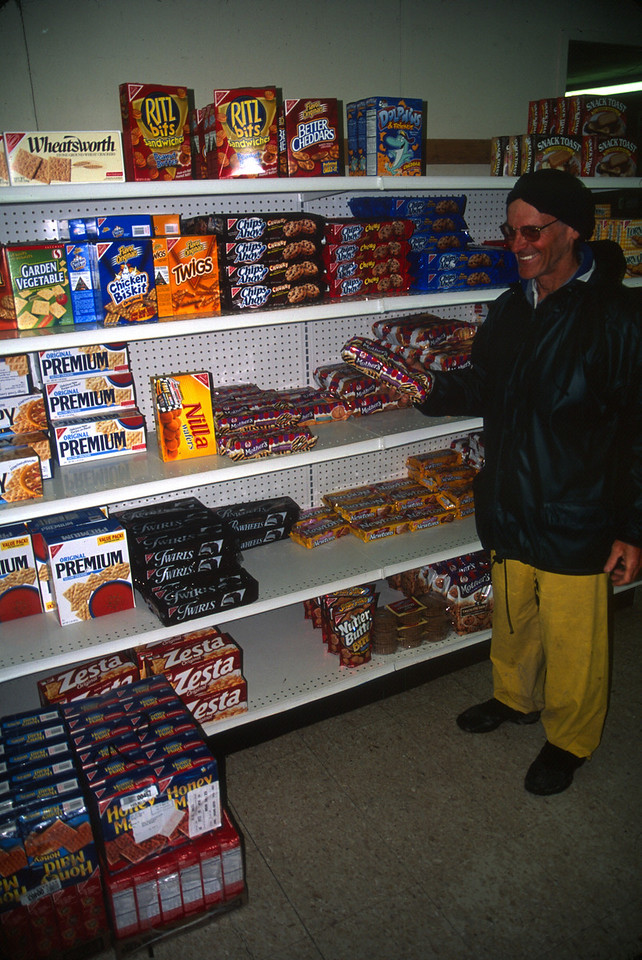 Fully stocked store at Noatak Village. John O and I had enough food for the entire trip, but we did replenish our cookie supply. John L and Karin picked up a small food package that they had mailed to Noatak Village before the trip.