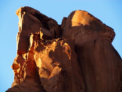 Late afternoon sun lights up the rocks beautifully.