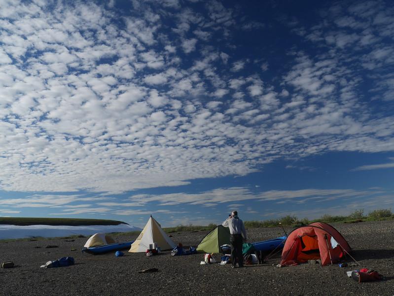 Camp 9 - Kokolik - Snowbank Camp - Beautiful sky in the morning.