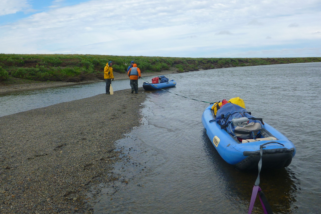 A particularly windy day had us towing the boats along some  of the river.