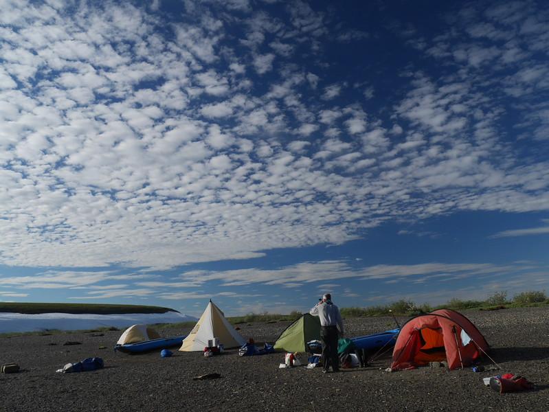 Great skies above Snowbank Camp.