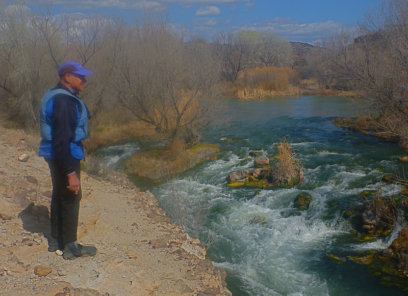 """On day 2, the rapids start. Here we scout """"Off the Wall"""" Rapid."""
