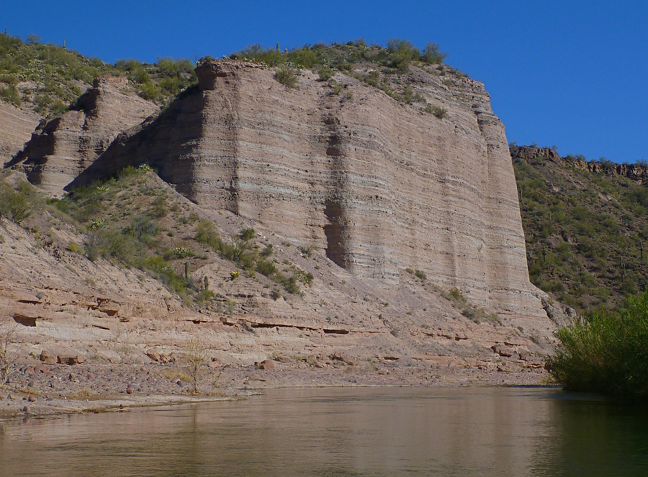 Cliffs along the river