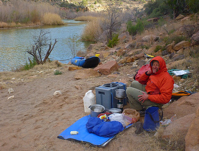 Camp 3 is a comfortable site high above the river.