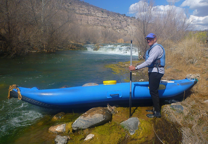 Our mandatory portage is also on day 2. We carry everything around Pre-Falls and Verde Falls rapids but float a short section in between.