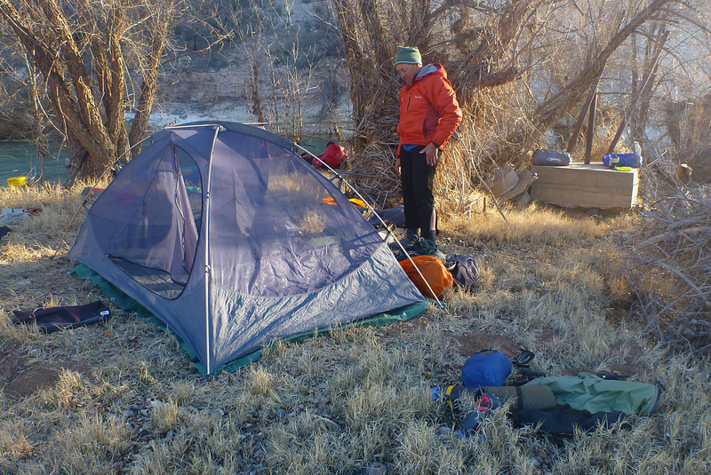 Our first camp is only 5 miles from our start.