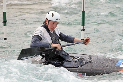 Nathaniel Francis slalom training at the U.S. National Whitewater Center in Charlotte, N.C., on July 15, 2020