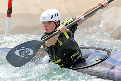 Slalom training at the U.S. National Whitewater Center in Charlotte, N.C., on July 14, 2020