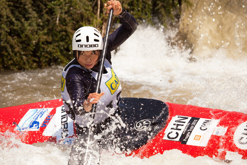 Qianqian TENG (China), C1 Finals - ICF Slalom World Cup 2010, La Seu d'Urgell (Spain)