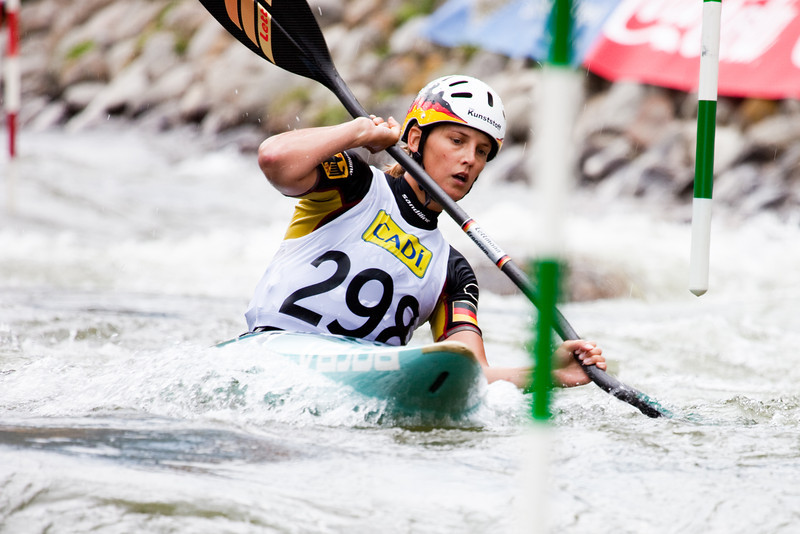 Jasmin SCHORNBERG (Germany), K1 Heats - ICF Slalom World Cup 2010, La Seu d'Urgell (Spain)