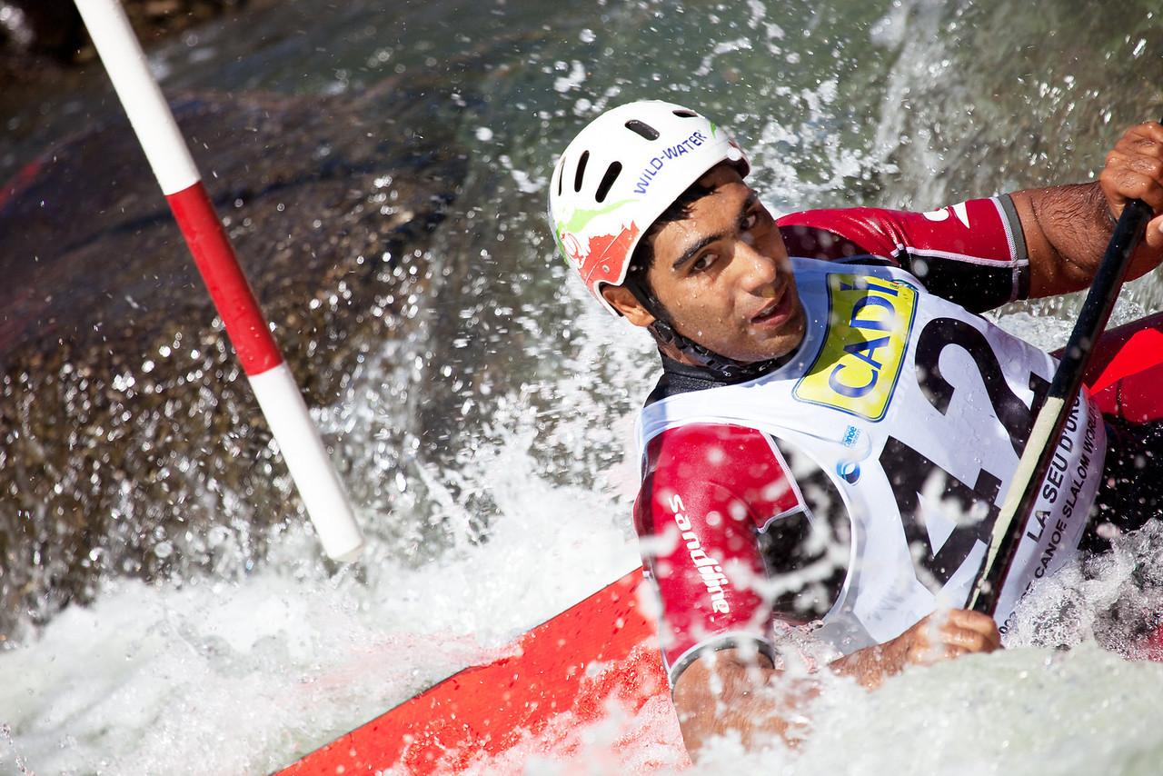 Alireza ASEFIRAD (Iran), K1 - ICF Canoe Slalom World Championships 2009, La Seu d'Urgell (Spain)