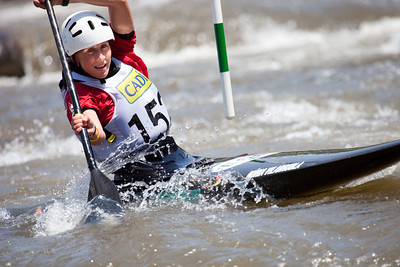 Nuria VILARRUBLA (Spain), C1 Finals - ICF Slalom World Cup 2010, La Seu d'Urgell (Spain)