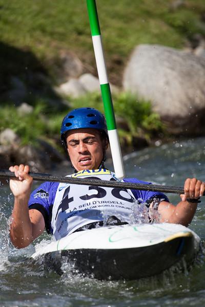 Johnathan AKINYEMI (Nigeria), K1 - ICF Canoe Slalom World Championships 2009, La Seu d'Urgell (Spain)