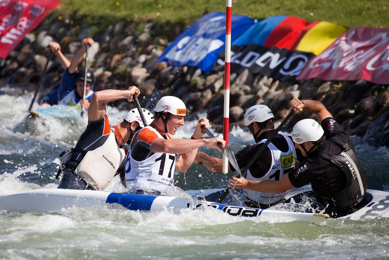 Great Britain, C2 By Teams - ICF Canoe Slalom World Championships 2009, La Seu d'Urgell (Spain)