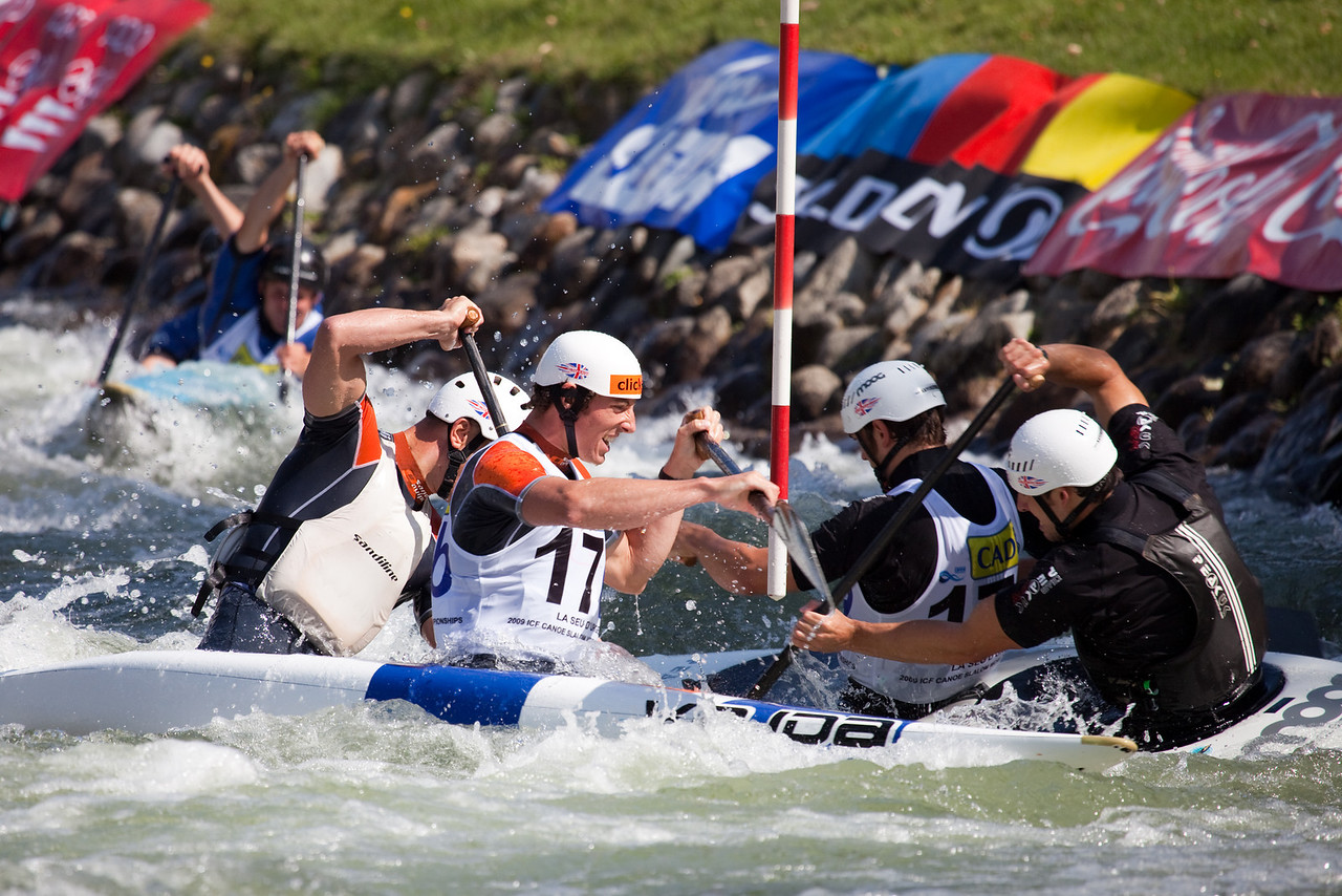 Great Britain, C2 By Teams - ICF Canoe Slalom World Championships 2009, La Seu d'Urgell (Spain)