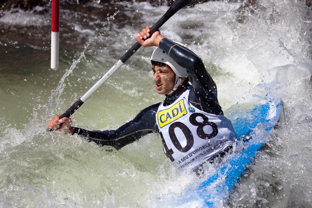 Tiago MENDES (Portugal), K1 - ICF Canoe Slalom World Championships 2009, La Seu d'Urgell (Spain)