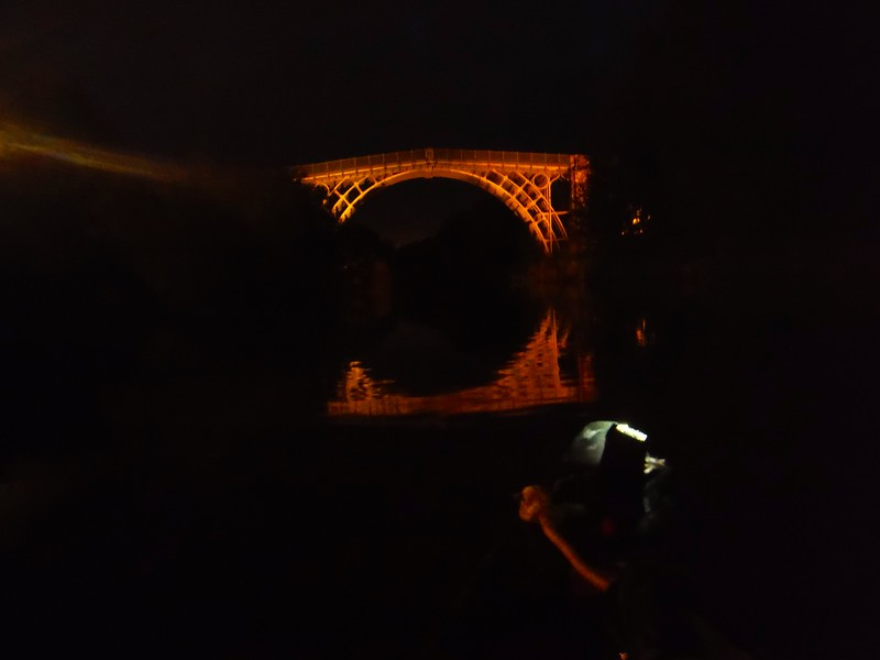 Ironbridge by dark as we then paddle Jackfield Rapids at night - River Severn, Yukon Training