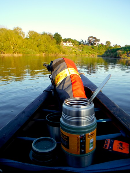 Food on the move Canoeing the River Severn with SPOT Tracker in place