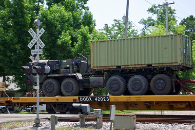 Military train in Ocean Springs