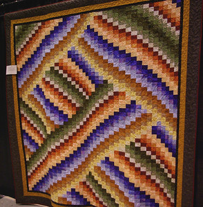 """Unfortunate Twisted Bargello"", Marilyn Rose, Ridgeland, MS"