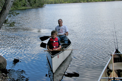 Zeke & Bob paddling