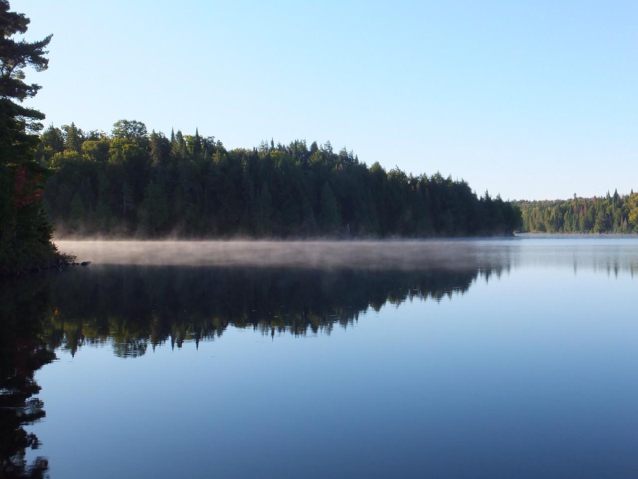 Morning mist on Timberwolf