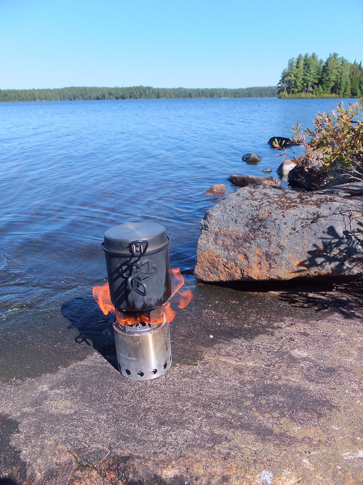 Lunch boil-up, Timberwolf Lake