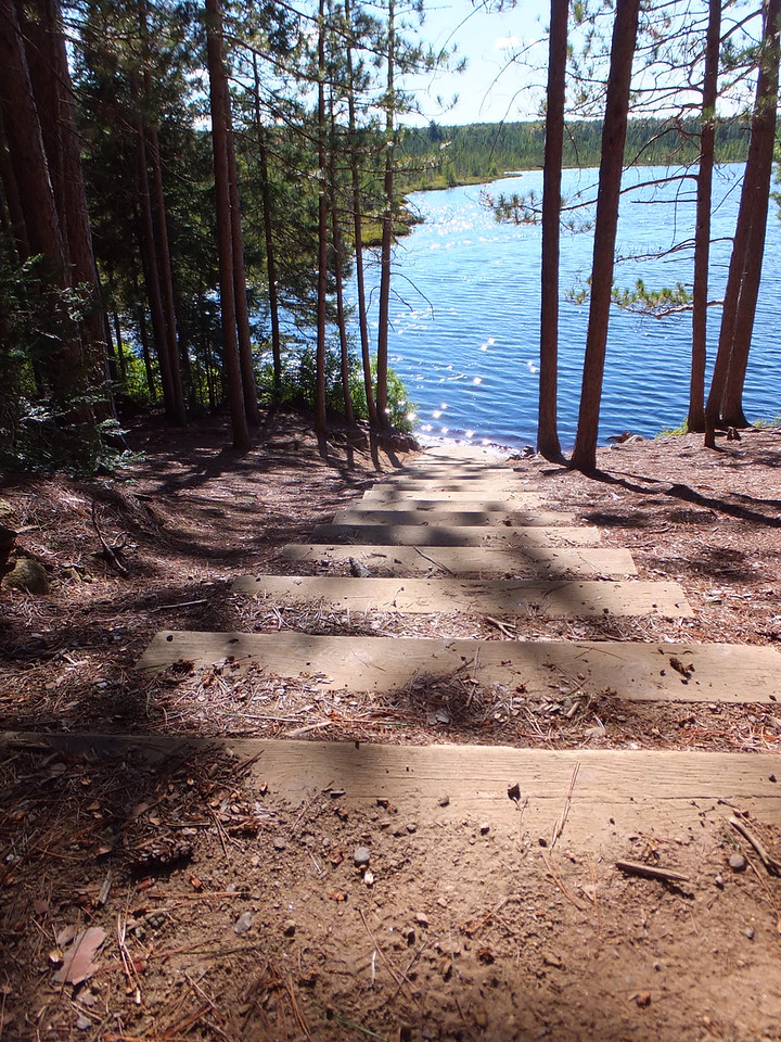 Stairs to Ink Lake