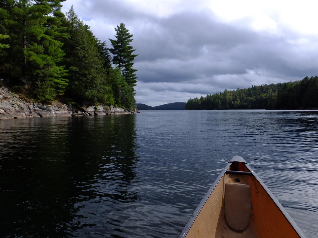 Approaching the main part of Louisa.  It's a big beautiful lake.