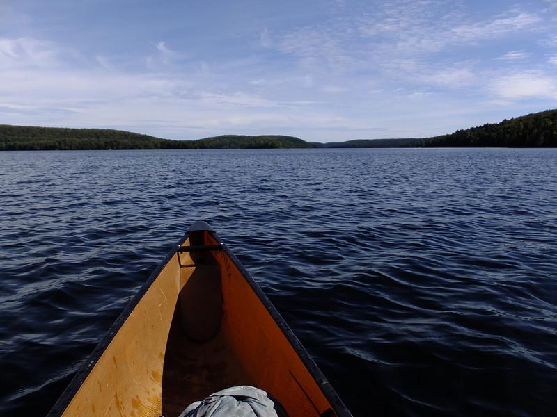 On Smoke Lake, heading south to Ragged Lake portage.