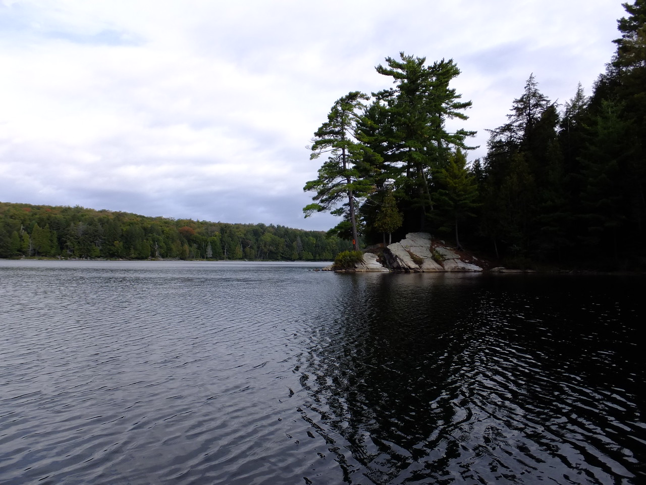 Chose this campsite on a point in the northwest end of Bonnechere.