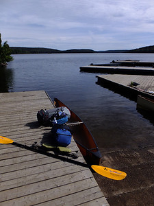 Smoke Lake, 3p.m.  Ready to go on a five-night loop through the southwest part of Algonquin.