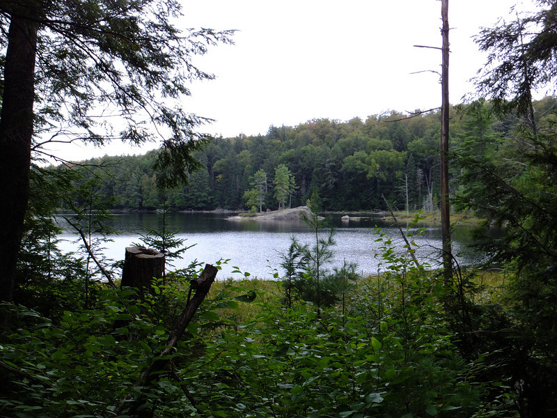 First glimpse of little Rod&Gun Lake.