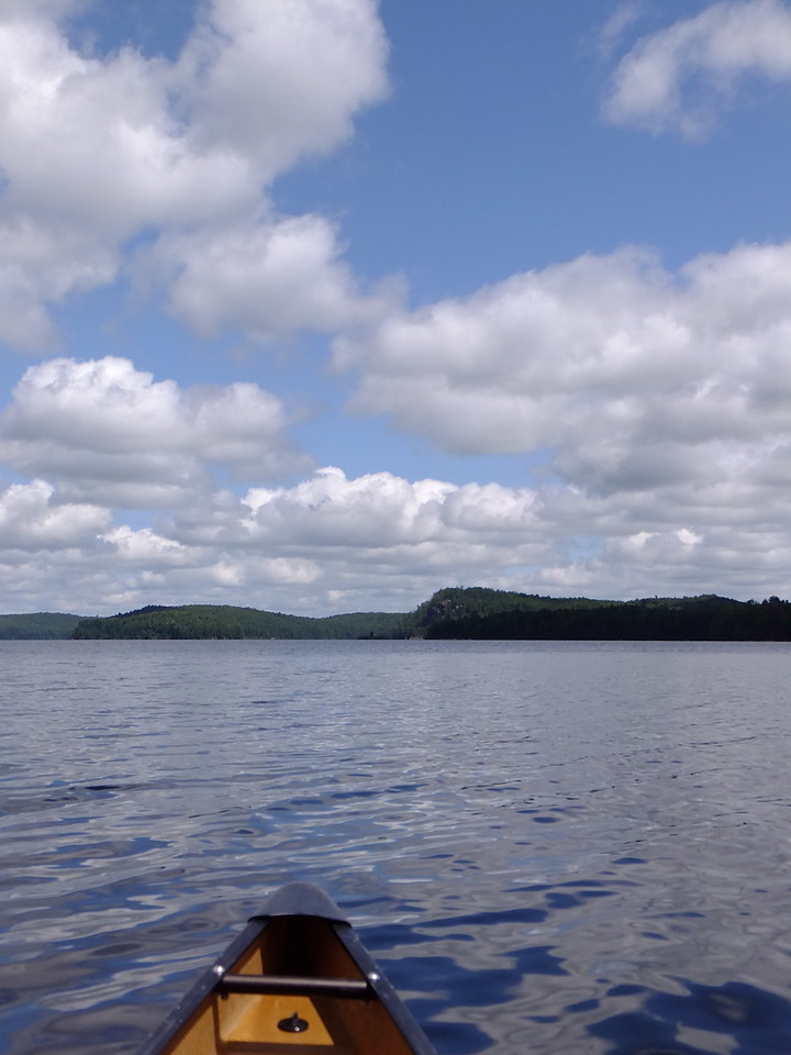 Beautiful paddling on Hogan Lake