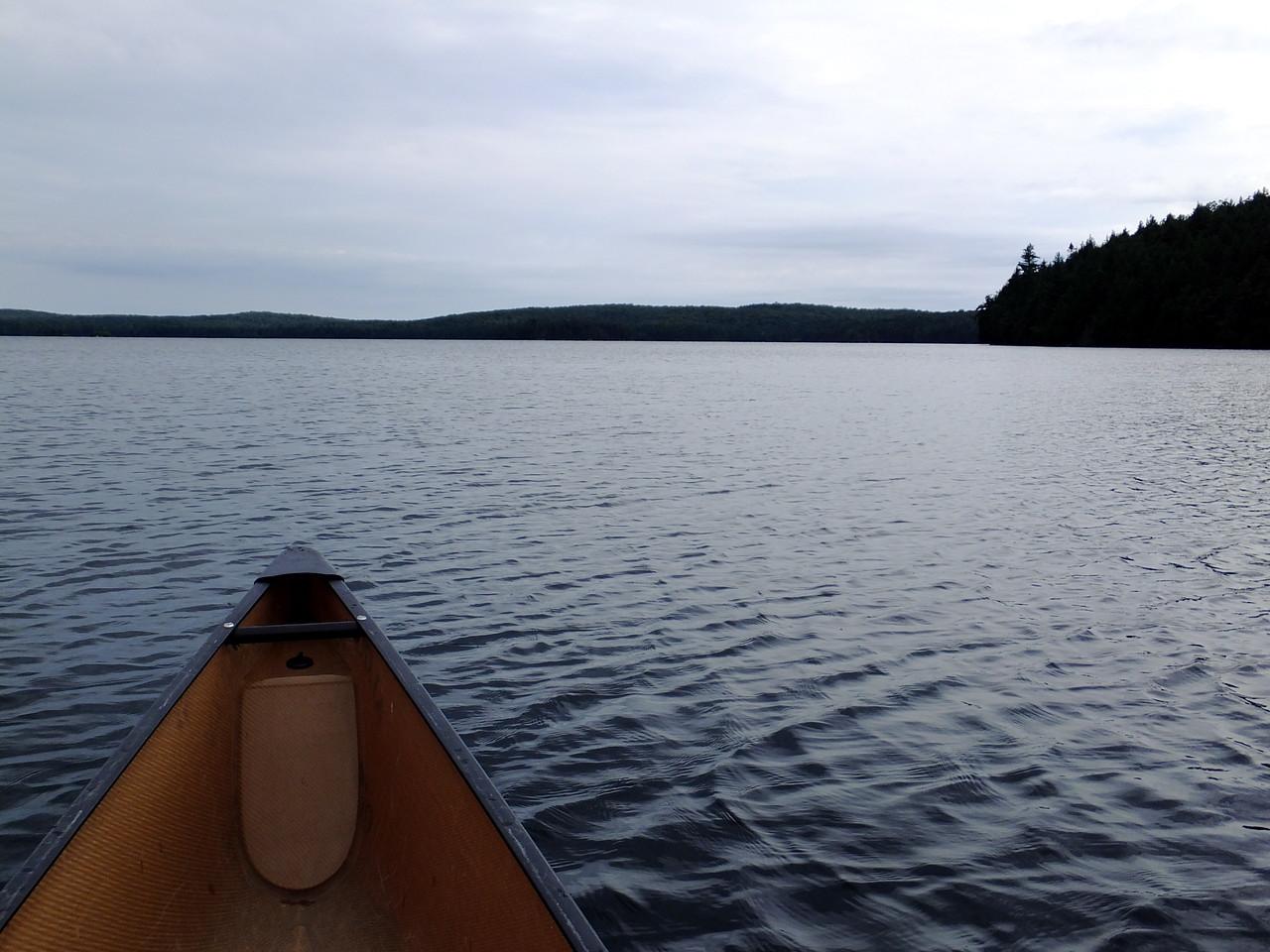 A dreary day on Merchant Lake