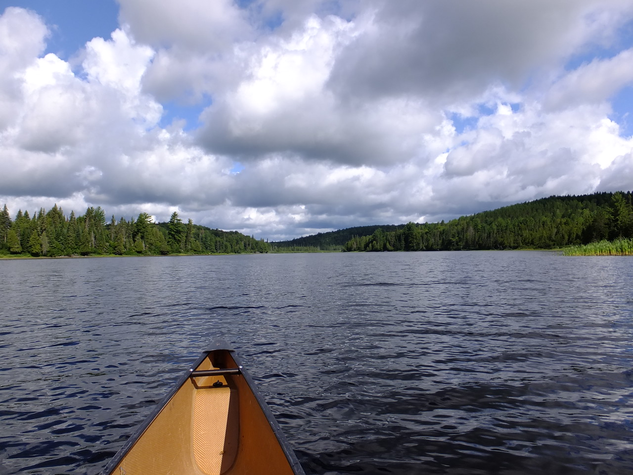 Longer Lake connects Big Trout and Burntroot Lakes