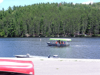 Algonquin Outfitters' water taxi