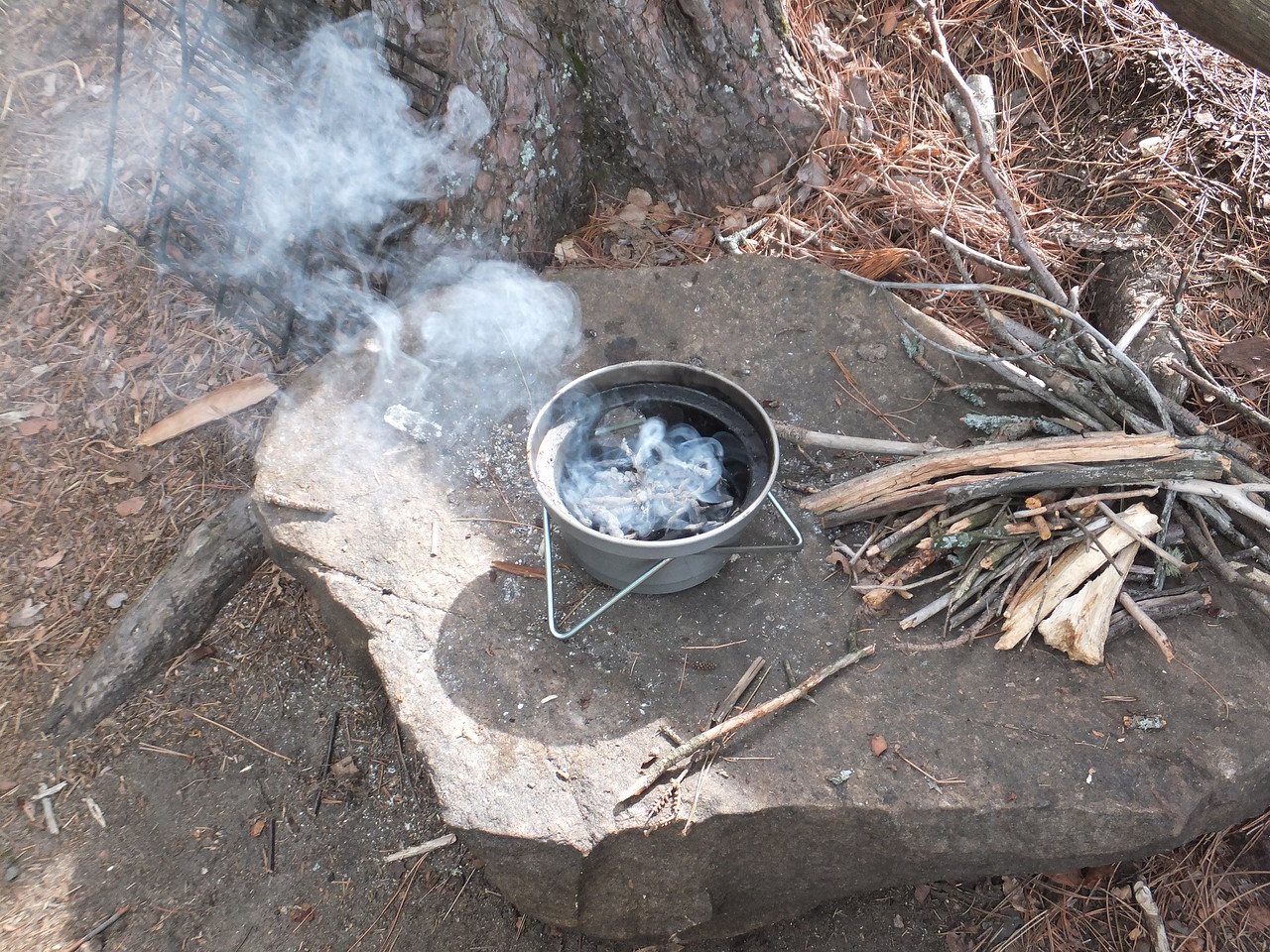 Ghillie Kettle fire base