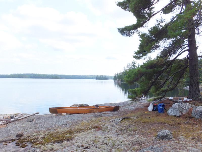 Burntside Lake lunch break