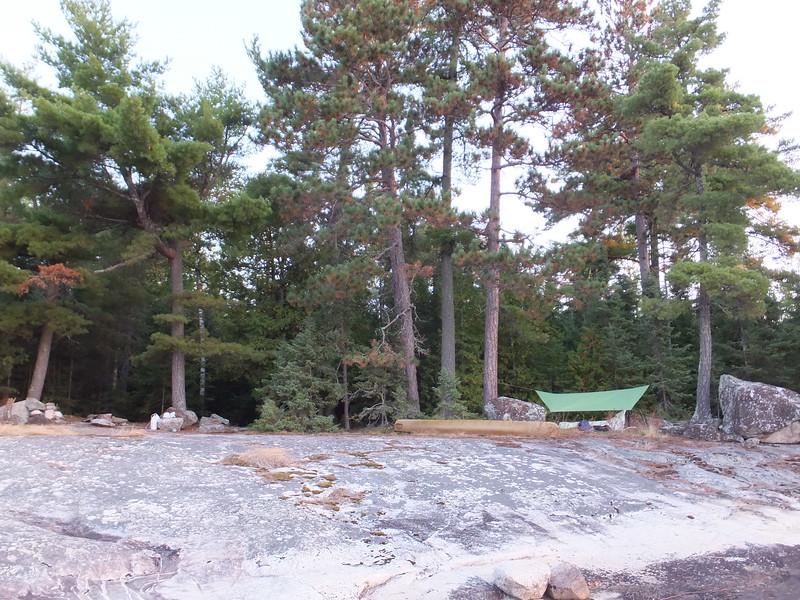 Great open rock shore on Jean Lake