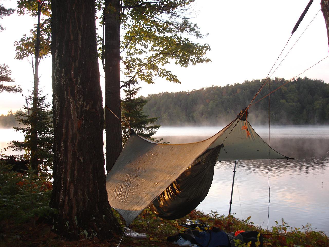 Hammock camping at its best