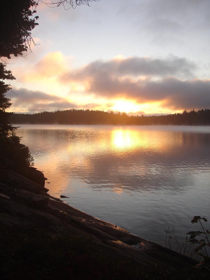 Next morning on Big Porcupine Lake's northern section.