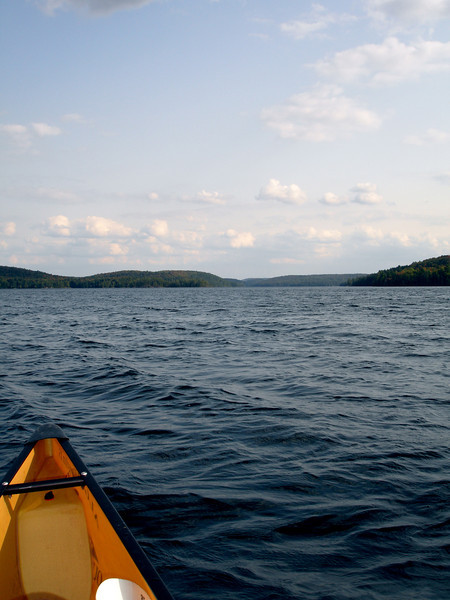 Put into Smoke Lake about 3 hours before sunset.