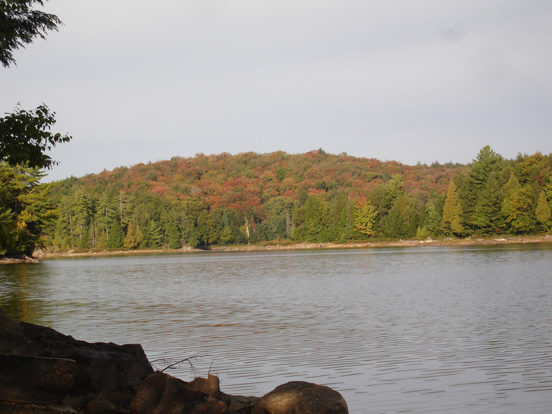 Back on Ragged Lake.  View from campsite.